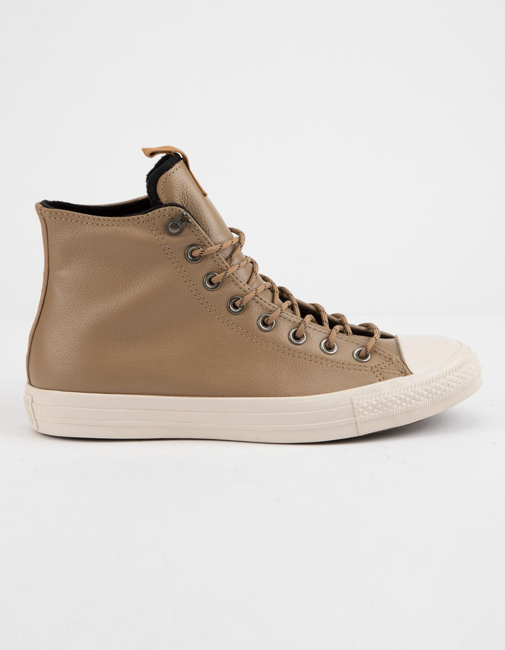065270b360 Lyst - Converse Chuck Taylor All Star Leather Teak   Driftwood High ...