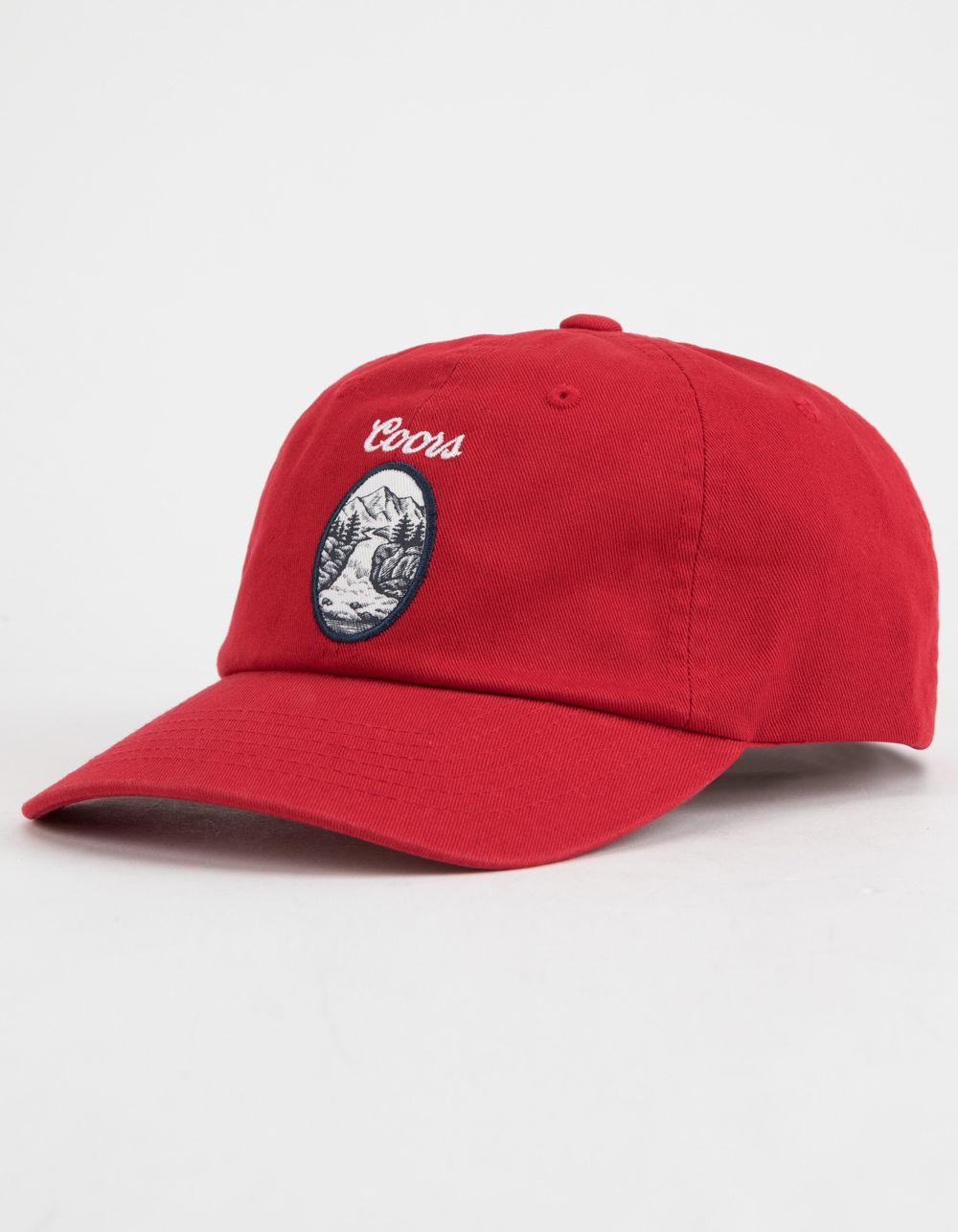 25f8bda30bc72c Brixton X Coors Filtered Red Mens Strapback Hat in Red for Men - Lyst