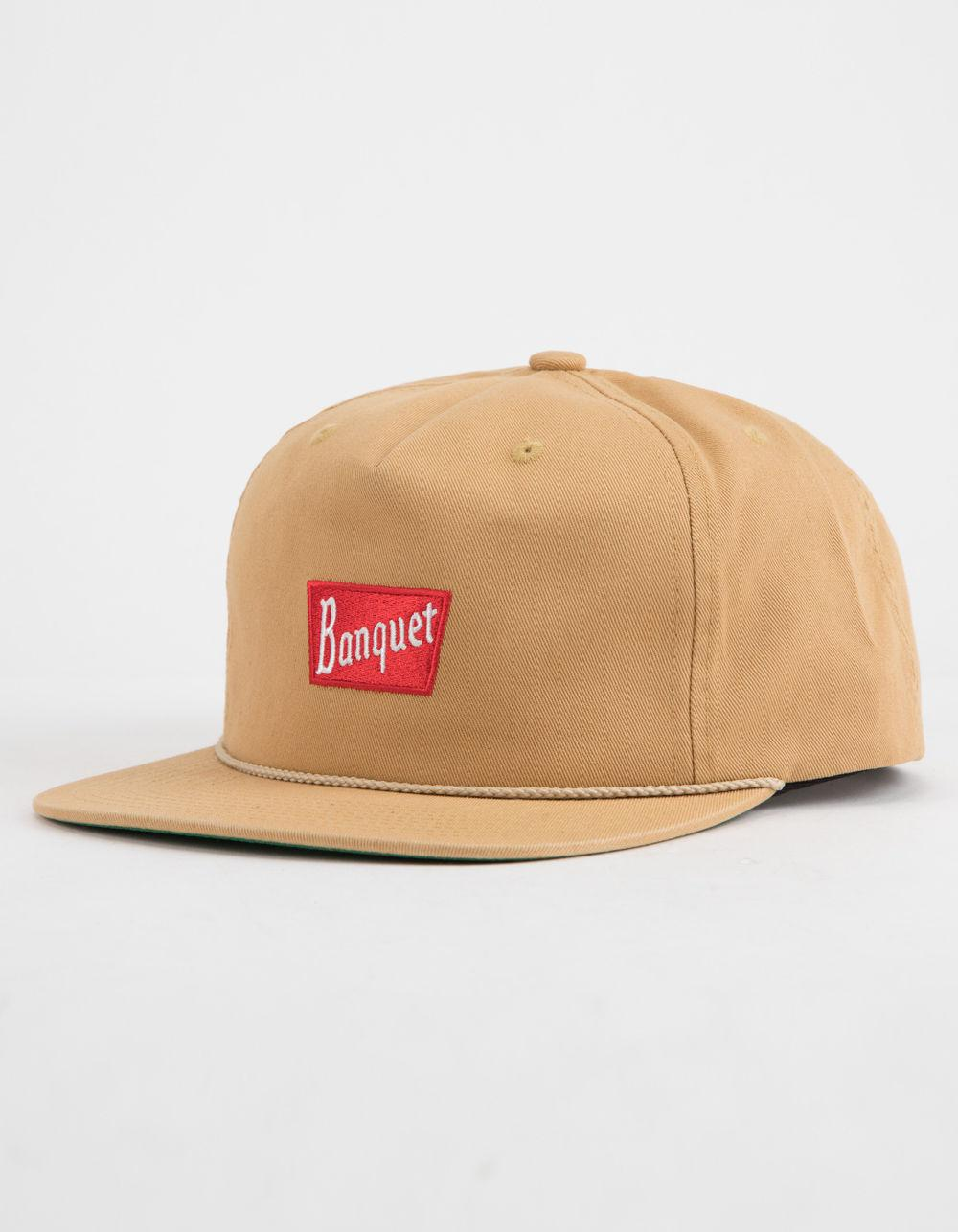 cheap for discount 839a5 84d0d ... low cost lyst brixton x coors banquet tan mens snapback hat for men  51902 4836b