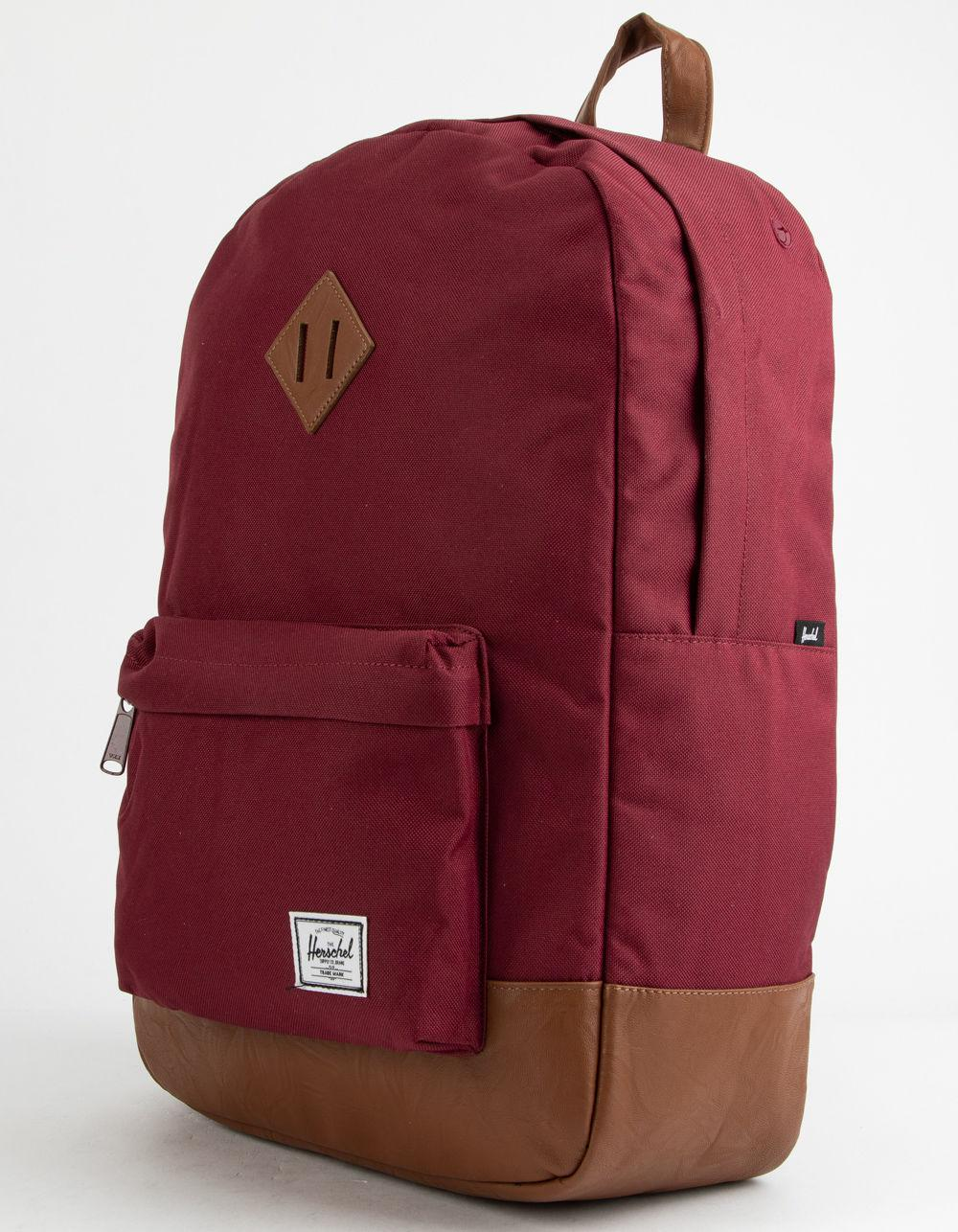 ef9bea45d42 Lyst - Herschel Supply Co. Heritage Windsor Wine   Tan Backpack in Red for  Men - Save 35.593220338983045%