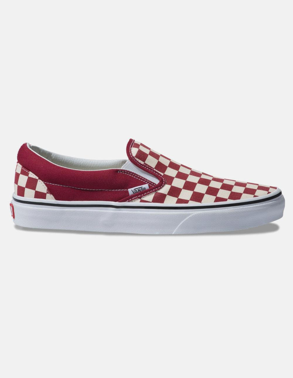 5686852ace Lyst - Vans Checkerboard Classic Slip-on Rumba Red   True White ...