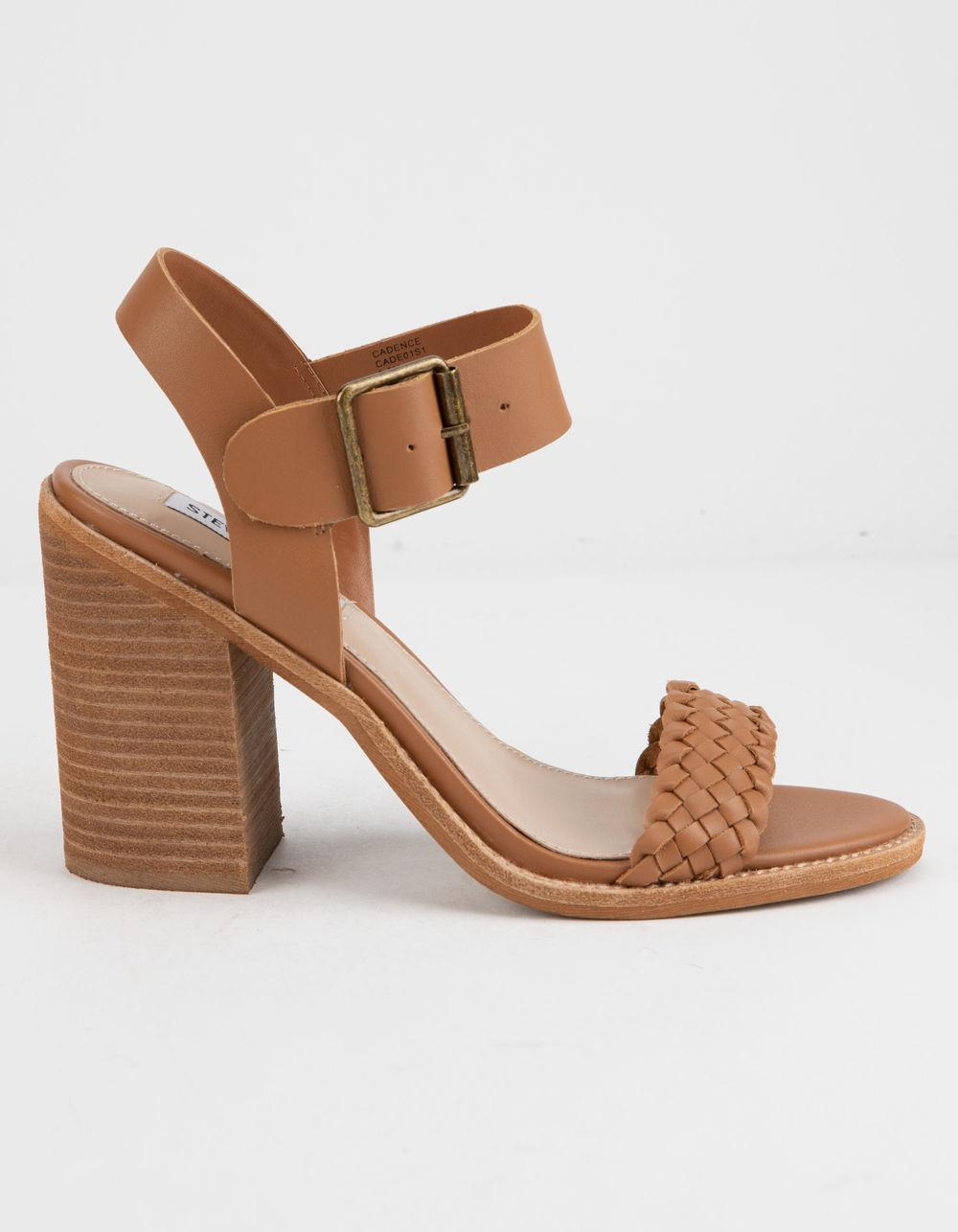 f3292cbd708 Lyst - Steve Madden Cadence Cognac Leather Womens Heeled Sandals in Brown