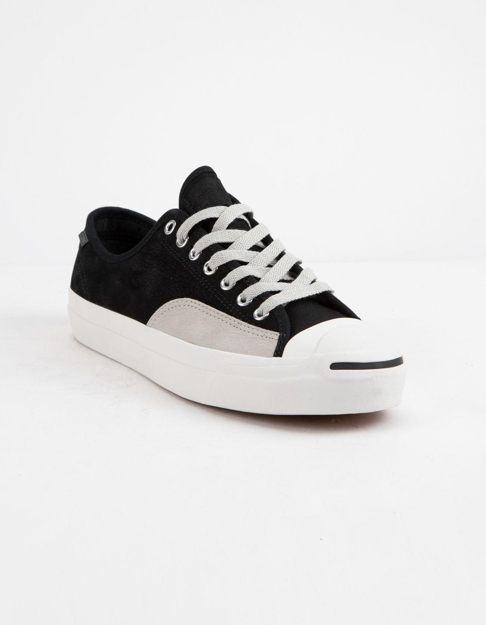 2aa711327a84ef Lyst - Converse Jack Purcell Pro Leather Low Top Shoes in Black