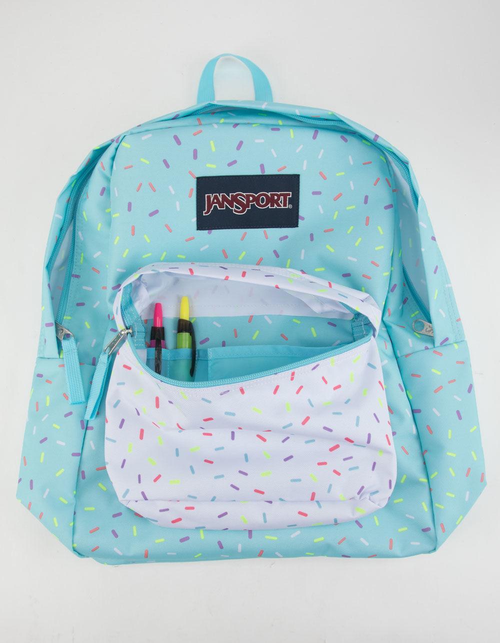 Jansport Superbreak Blue Topaz Sprinkle Me Backpack