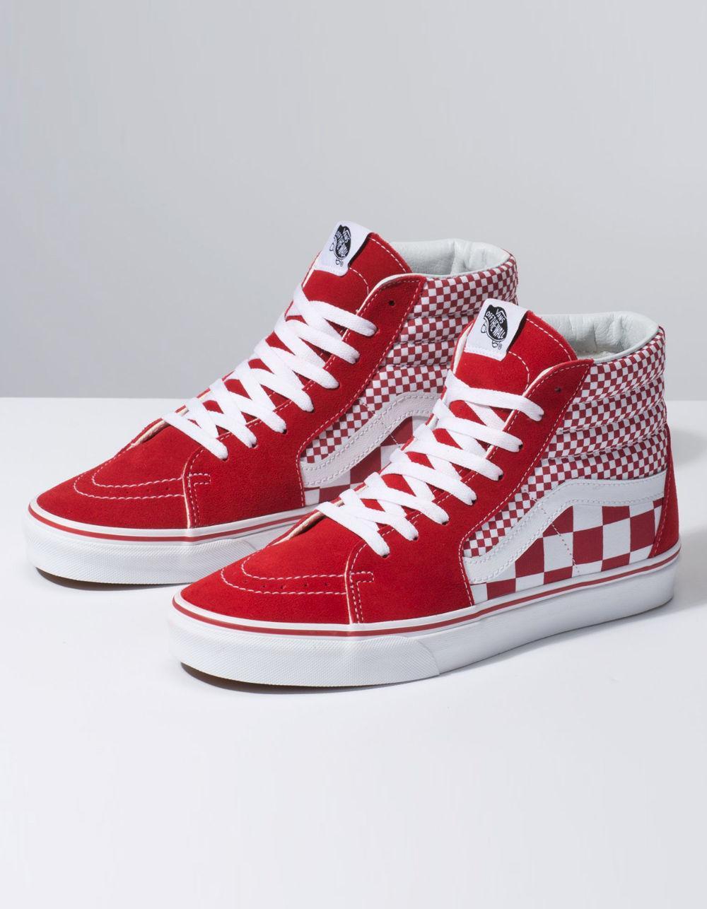 Lyst - Vans Mix Checker Sk8-hi Chili Pepper   True White Shoes 8409d3e96