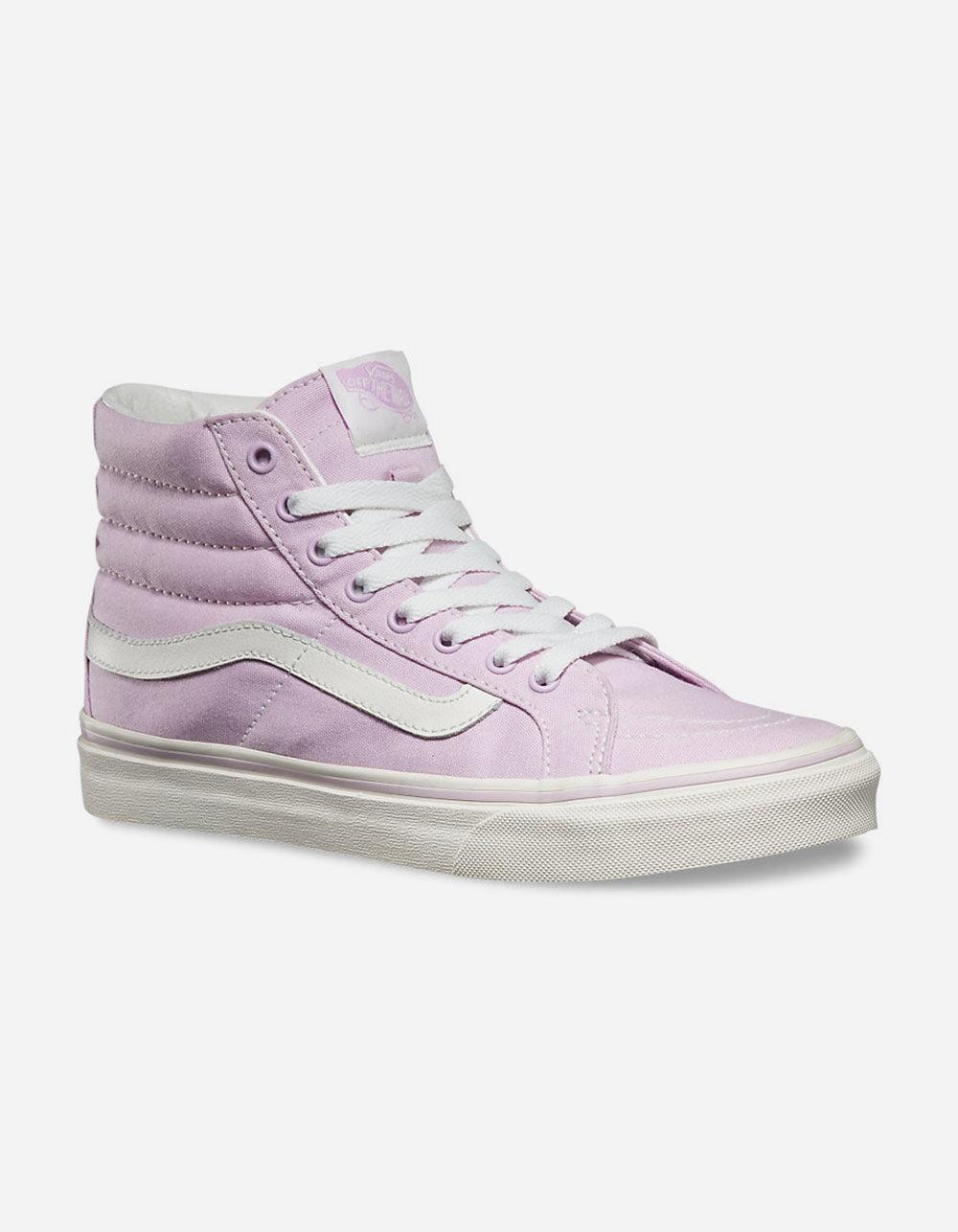 537f4f5bf38bb Lyst - Vans Sk8-hi Slim Womens Shoes