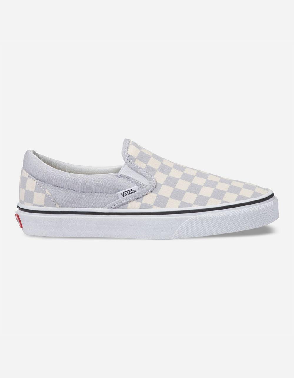light gray checkered vans