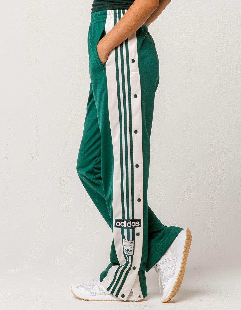 adidas Synthetic Adibreak Womens Track Pants in Dark Green