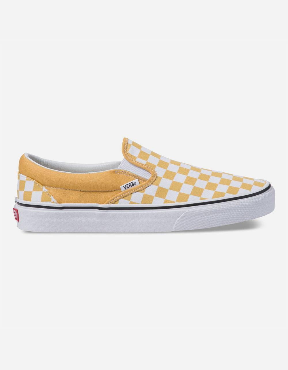 0029086341 Lyst - Vans Checkerboard Classic Slip-on Ochre   True White Shoes in ...