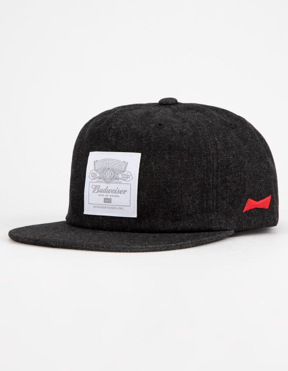 5efb6dc767483 Lyst - Huf X Budweiser 6 Panel Black Mens Strapback Hat in Black for Men
