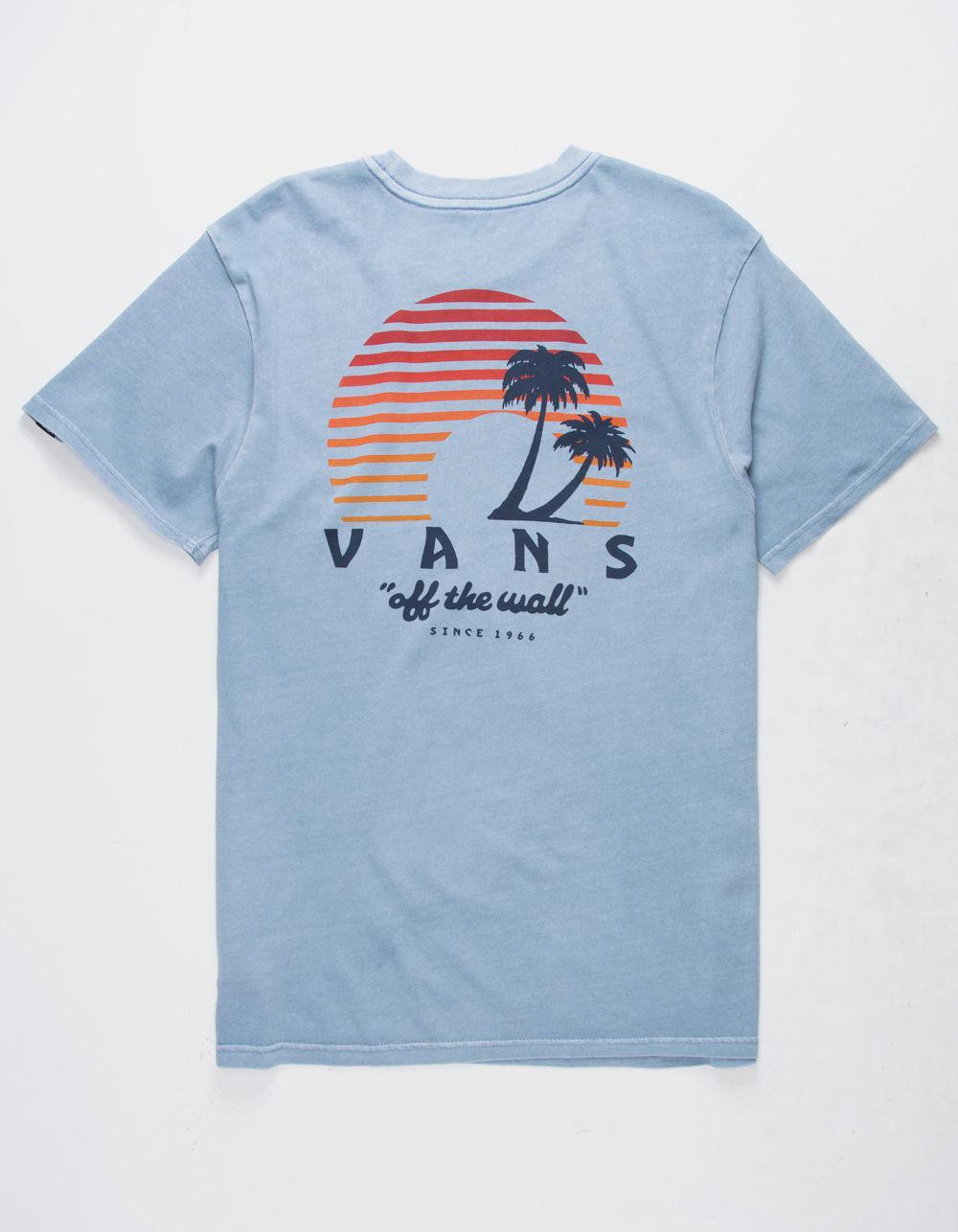 d5431aba69 Lyst - Vans Vintage Otw Sunset Mens T-shirt in Blue for Men - Save 32%