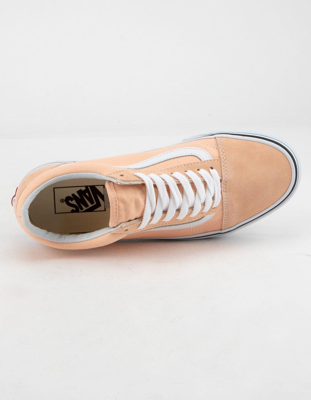 f91f466829b6 Vans - Pink Old Skool Bleached Apricot   True White Womens Shoes - Lyst.  View fullscreen