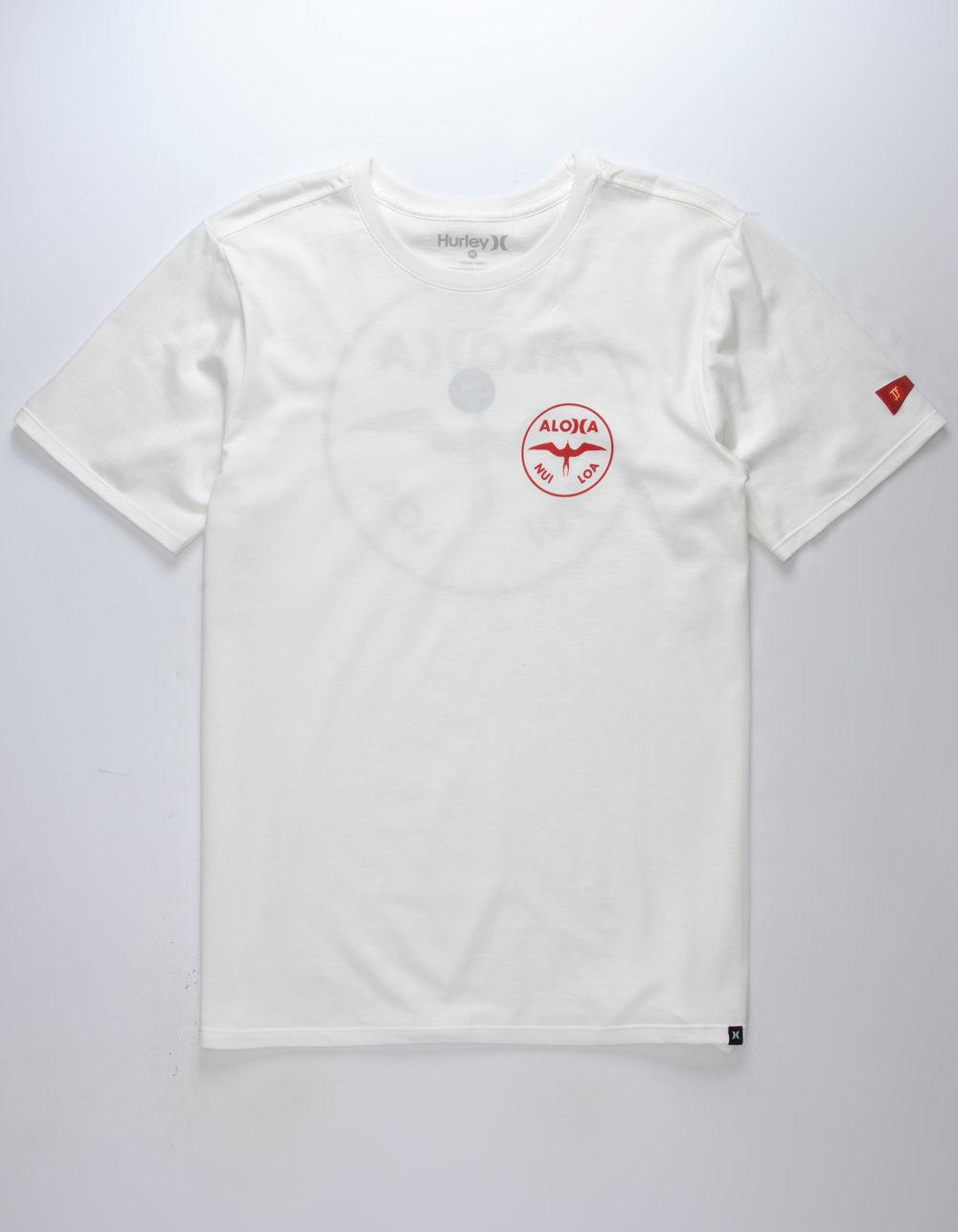c798ffd25b Hurley White Jjf Aloha Mens T-shirt for men