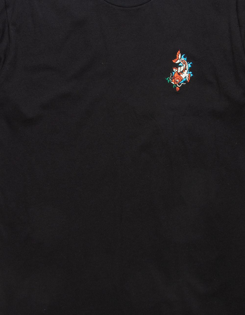 aa3f5f46 Lyst - Riot Society Koi Embroidery Black Mens T-shirt in Black for Men
