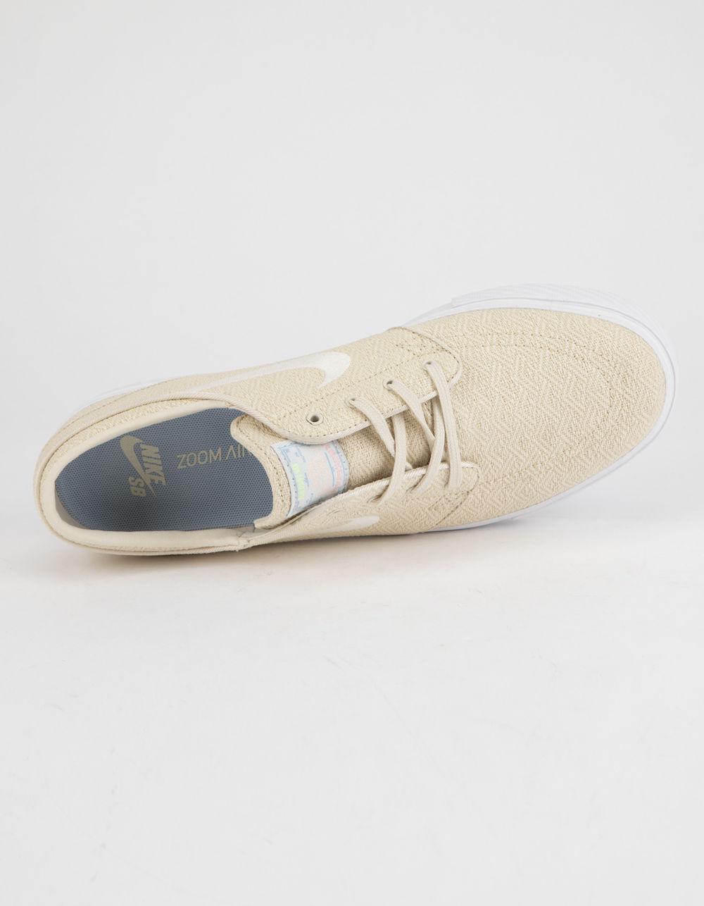 36710519f382 Nike - Zoom Stefan Janoski Canvas Fossil   Sail White Mens Shoes for Men -  Lyst. View fullscreen