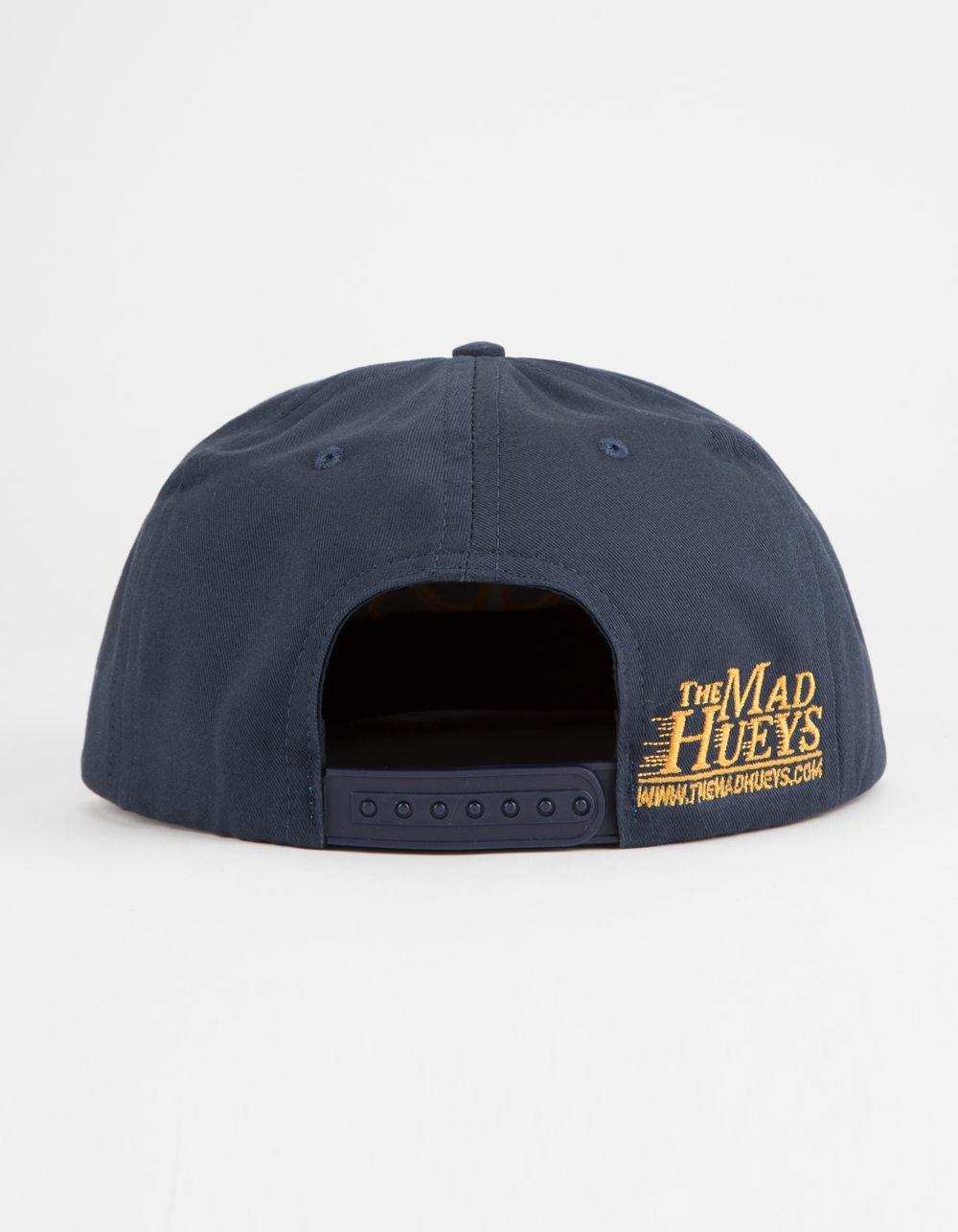 670d9337f THE MAD HUEYS Blue Captain Mens Snapback Hat for men
