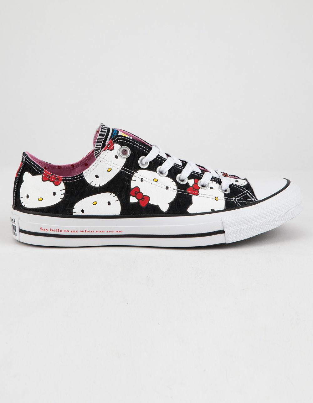 af843a9a9c Lyst - Converse X Hello Kitty Chuck Taylor All Star Black   Prism ...