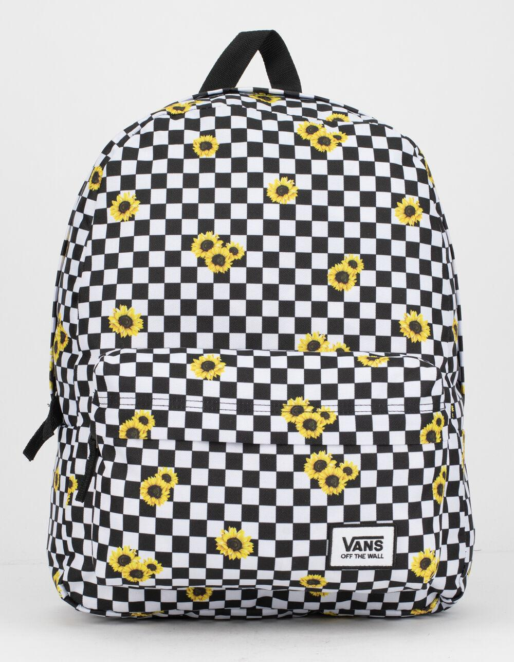 Realm Sunflower Checkerboard Backpack