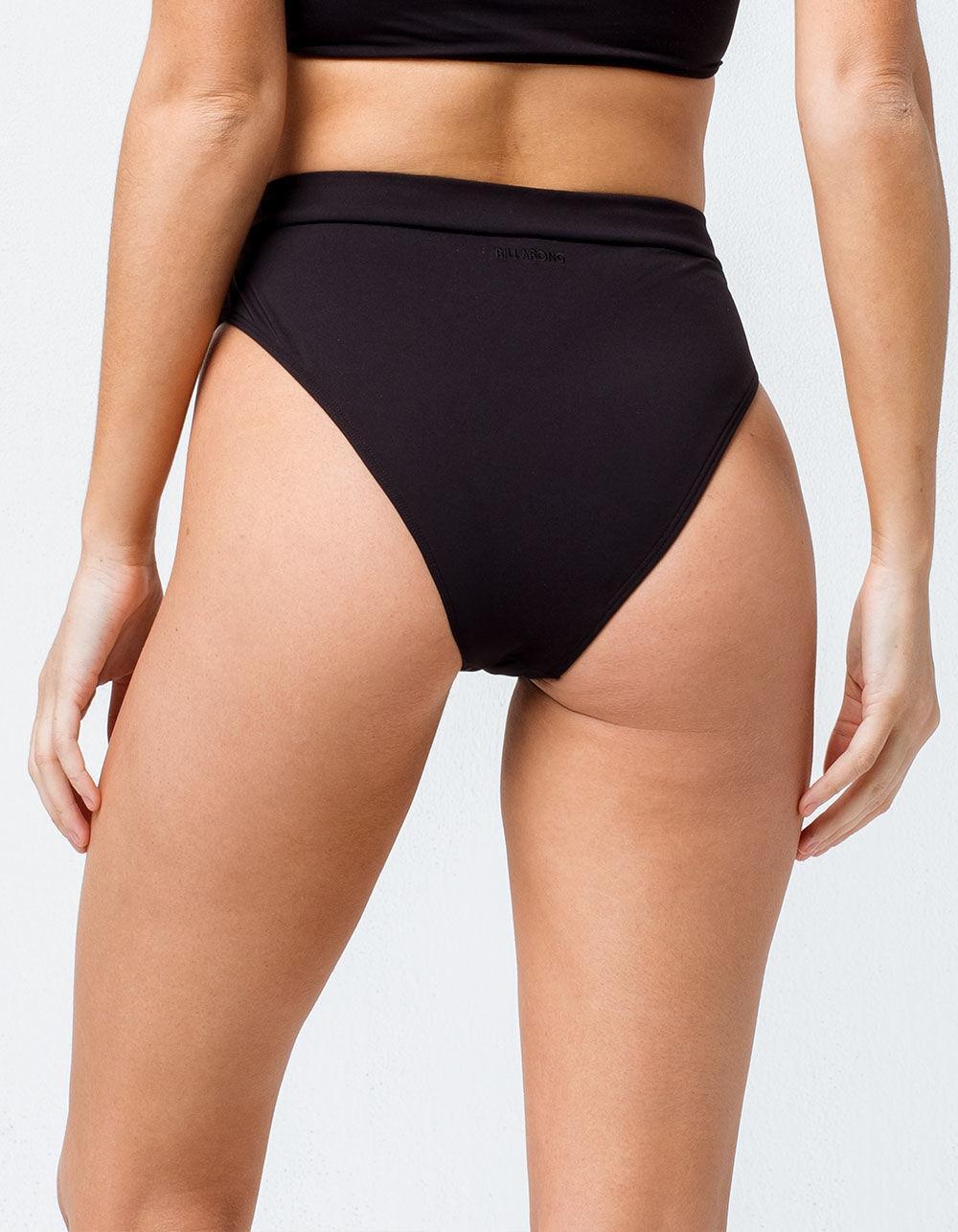 5abc1c26a3cd4 Billabong - Sol Searcher Rise High Waisted Super Cheeky Black Bikini Bottoms  - Lyst. View fullscreen