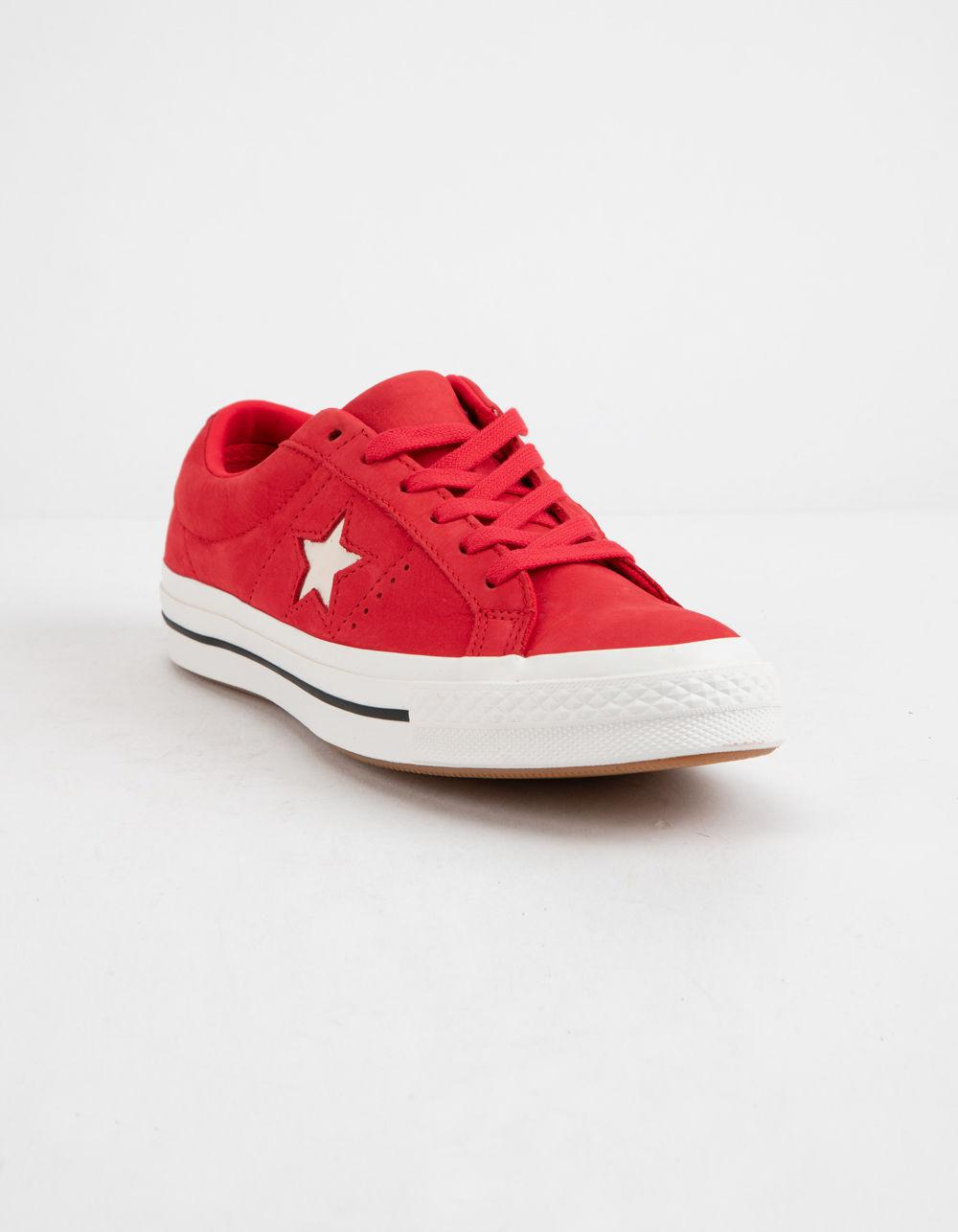 3268cfdf5e6b Lyst - Converse One Star Ox Cherry Red   Vintage White Womens Low Top Shoes  in Red
