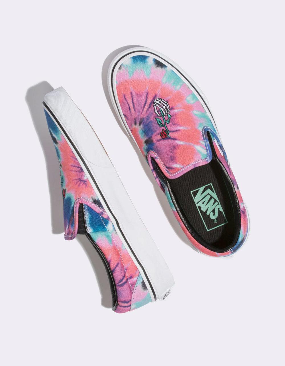 e8641f6c597d Vans - Multicolor Tie Dye Classic Slip-on Womens Shoes - Lyst. View  fullscreen