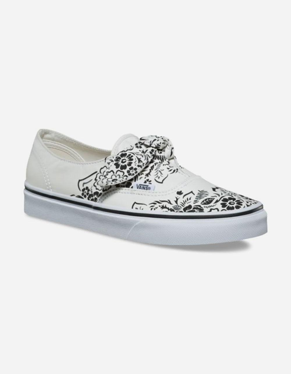 641f02a1d5 Lyst - Vans Authentic Floral Bandana Knotted Marshmallow Womens Shoes