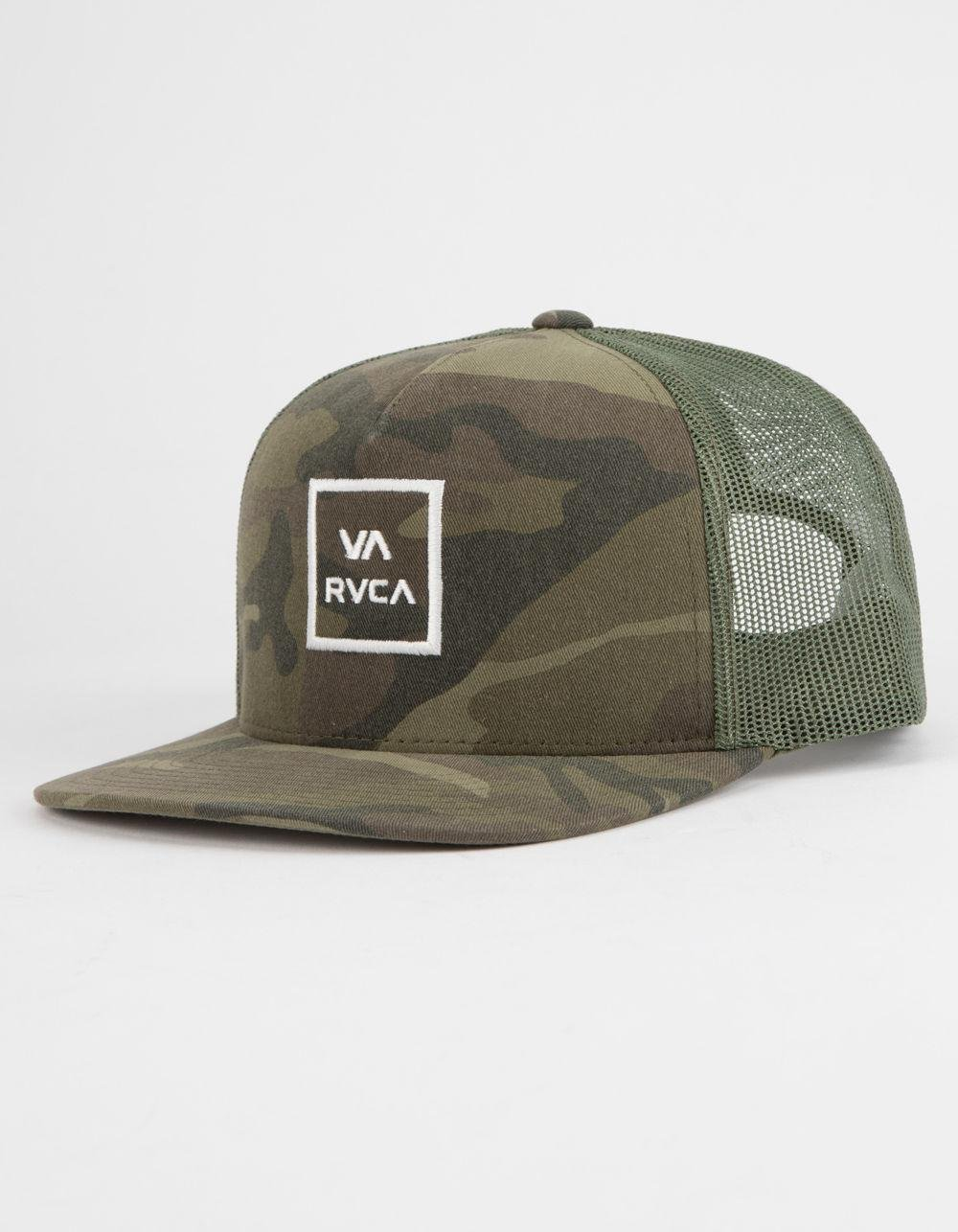 8e720304fd2ae RVCA Va All The Way Mens Trucker Hat in Green for Men - Lyst