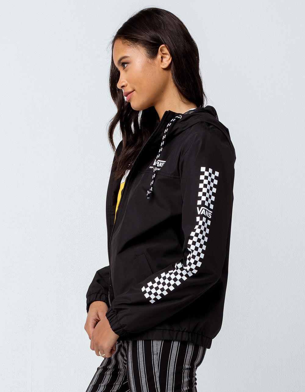 91f3e359e Vans Black Kastle Ii Funday Womens Windbreaker Jacket