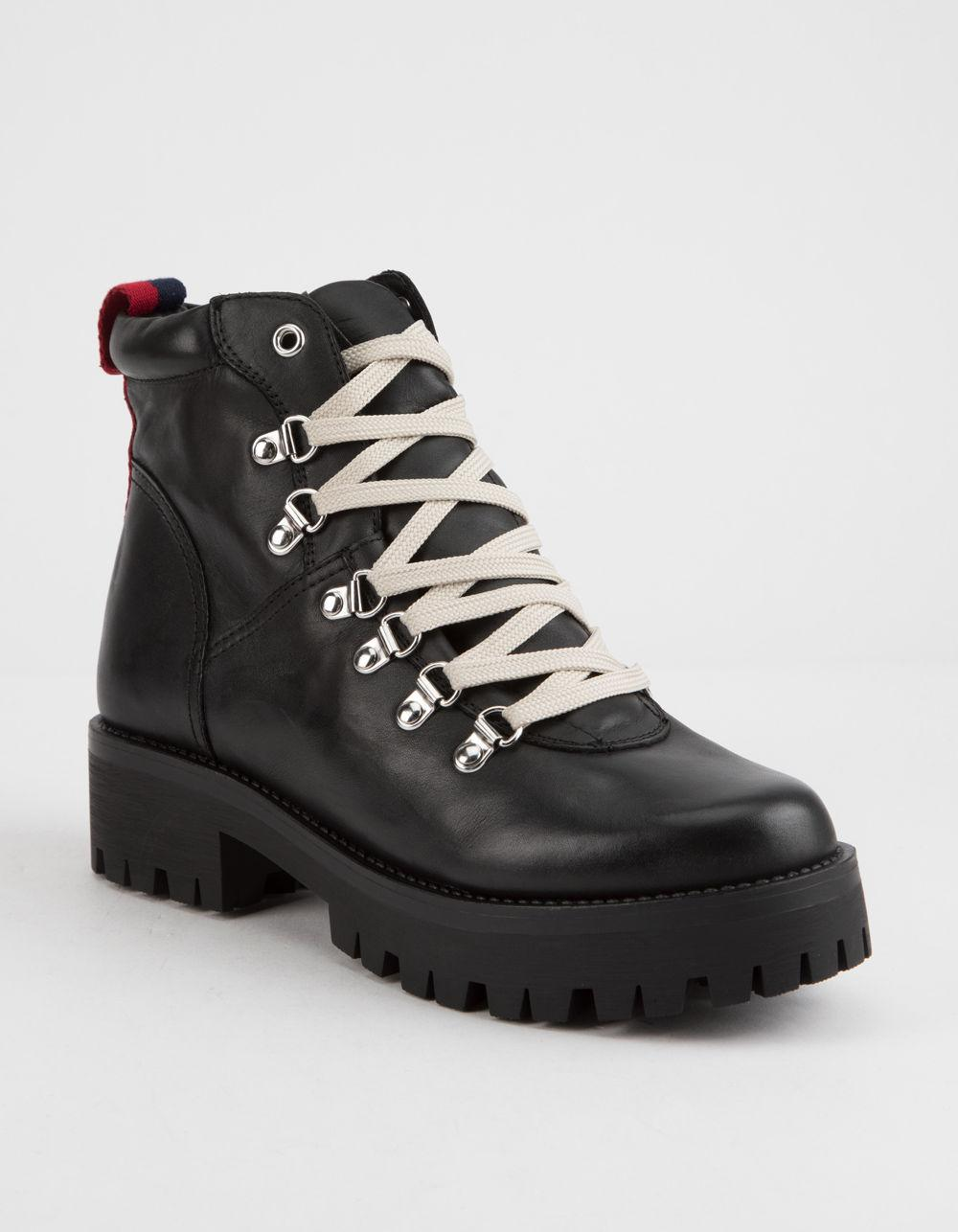 fb96db06bd0 Lyst - Steve Madden Bam Black Womens Combat Boots in Black