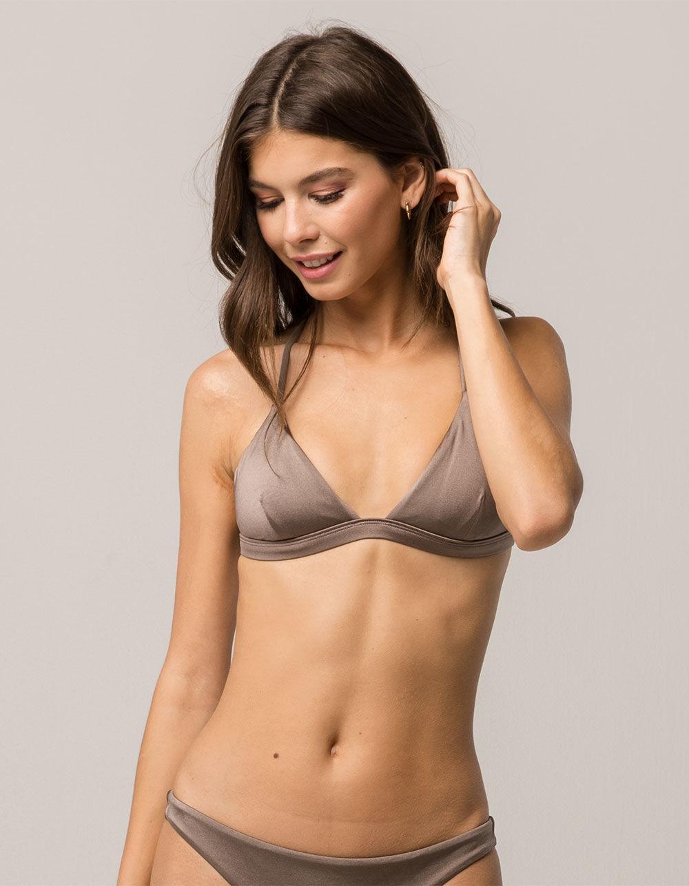 c1cb22e157ff2 Lyst - Billabong Sol Searcher Bronze Bikini Top in Brown