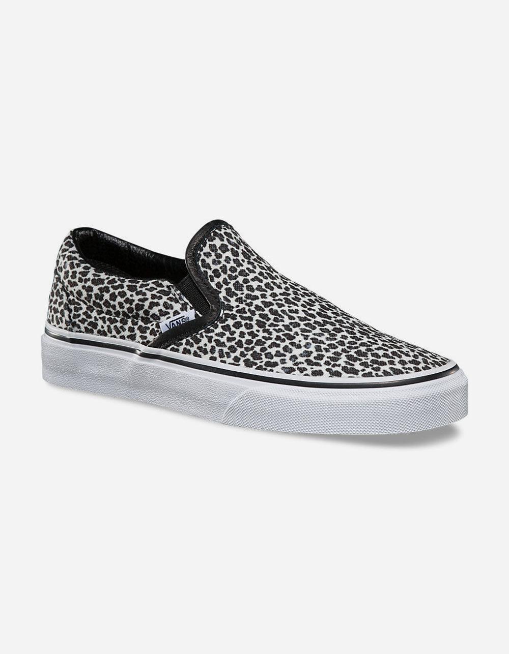 2404b74ee13e Vans Mini Leopard Classic Slip-on Womens Shoes in Black - Lyst