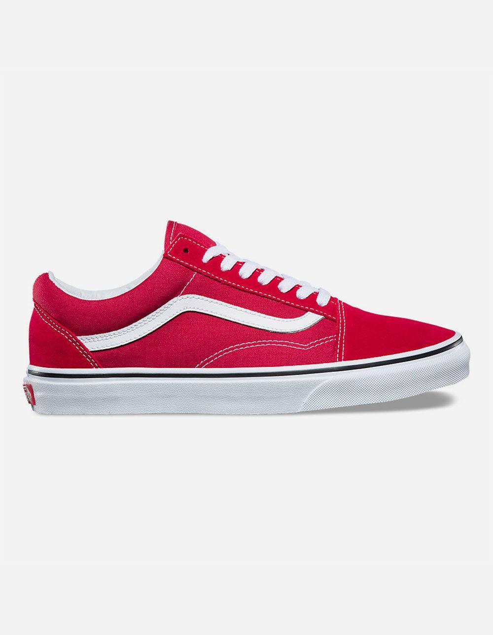 ba34c273511 Lyst - Vans Old Skool Crimson   True White Shoes in Red for Men