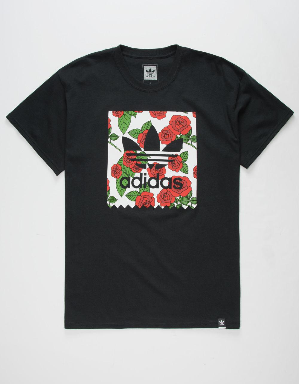 adidas shirt with roses