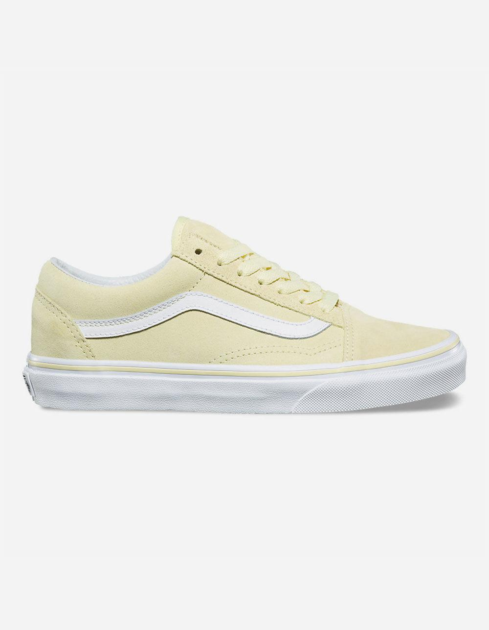48ffbfc5a4ce5e Lyst - Vans Old Skool Suede Tender Yellow   True White Womens Shoes ...