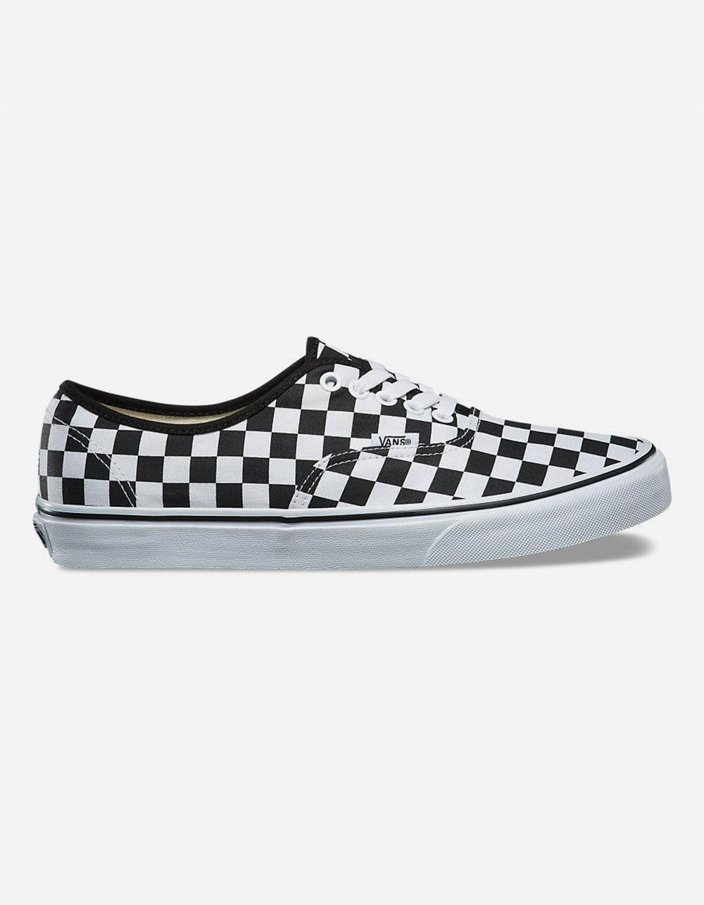 vans checker board shoes