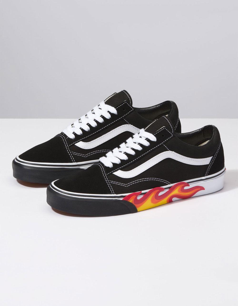 flame vans shoes