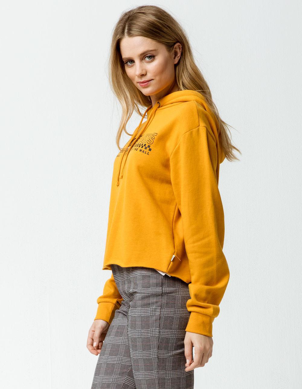 253247c6ac0 Lyst - Vans X Tillys Triple Womens Crop Hoodie in Yellow