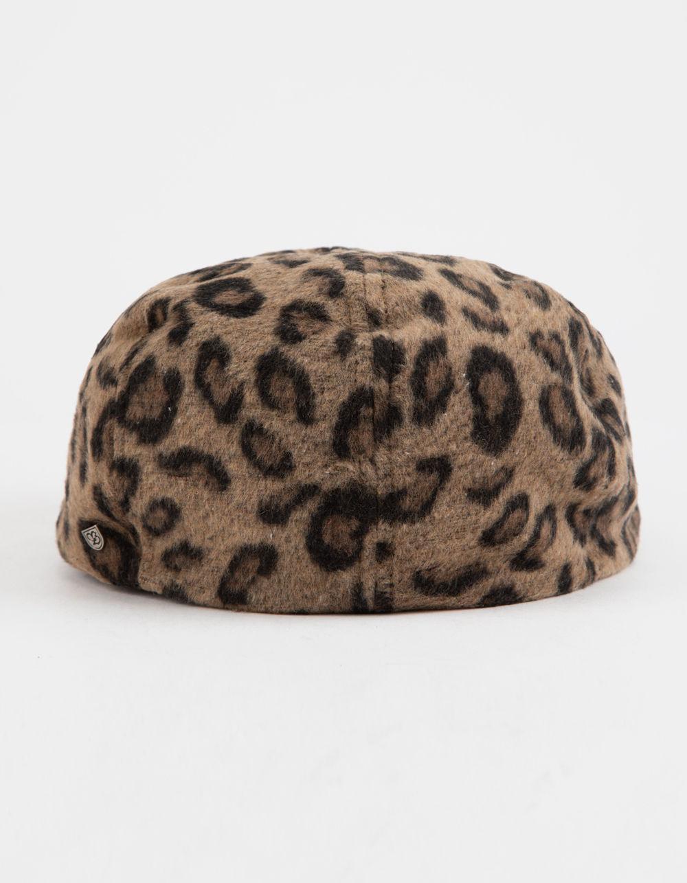 6824d00f8d9 Lyst - Brixton Brood Leopard Womens Snap Cap in Brown