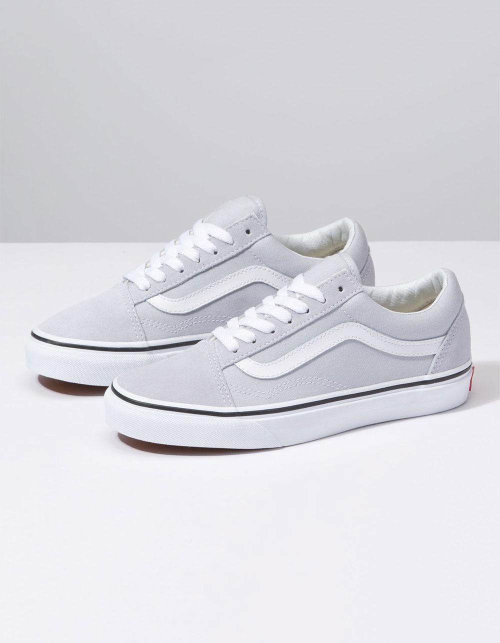 49b4f0d2ebc Lyst - Vans Old Skool Gray Dawn   True White Womens Shoes in White