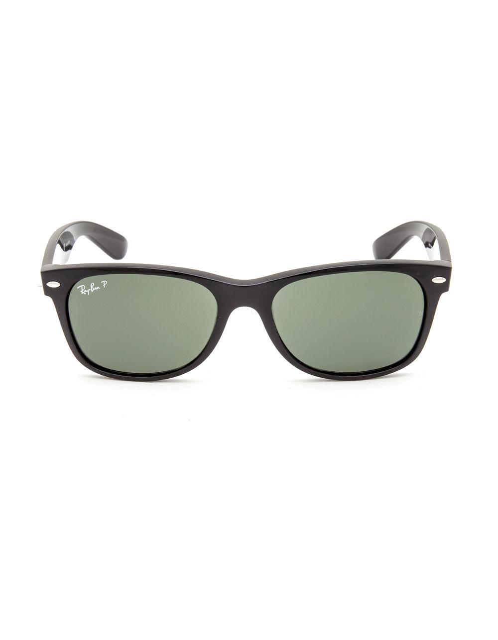 cbd27689d9 Lyst - Ray-Ban New Wayfarer Polarized Sunglasses in Black for Men