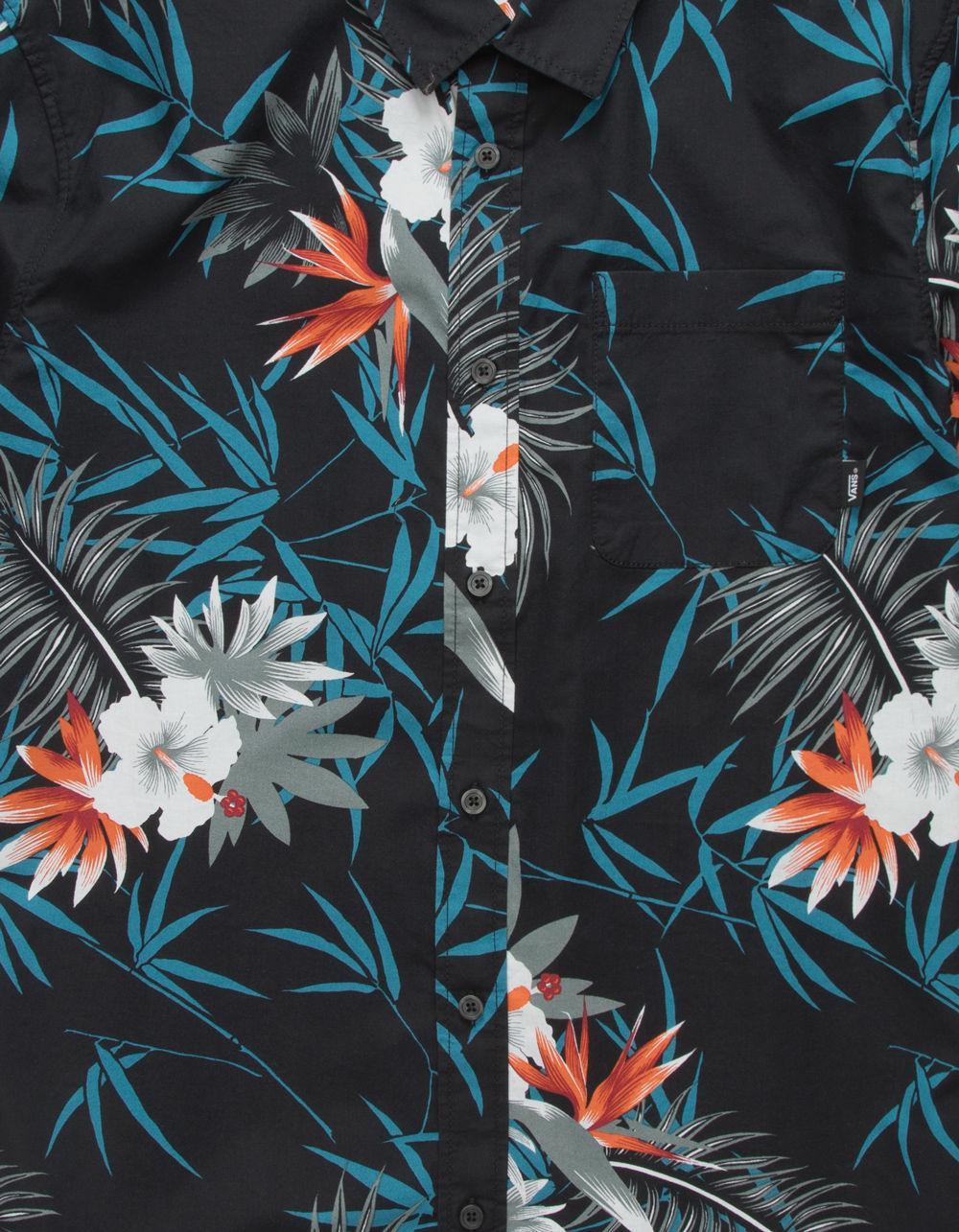 dca60e20 Vans Black Peace Out Floral Mens Shirt for men