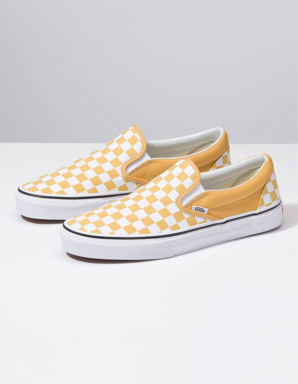 928b38927596 Lyst - Vans Checkerboard Classic Slip-on Ochre   True White Shoes in White