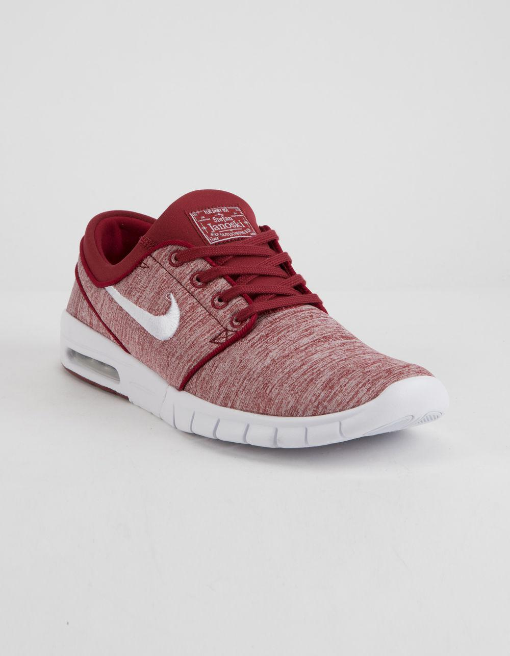 f6ee67626f354b Lyst - Nike Stefan Janoski Max Red Crush   White Shoes in Red