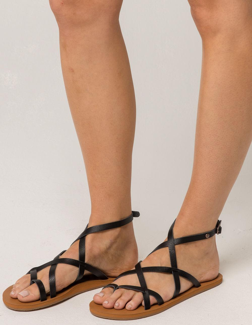 Roxy JULIA - T-bar sandals - black HQaRtv