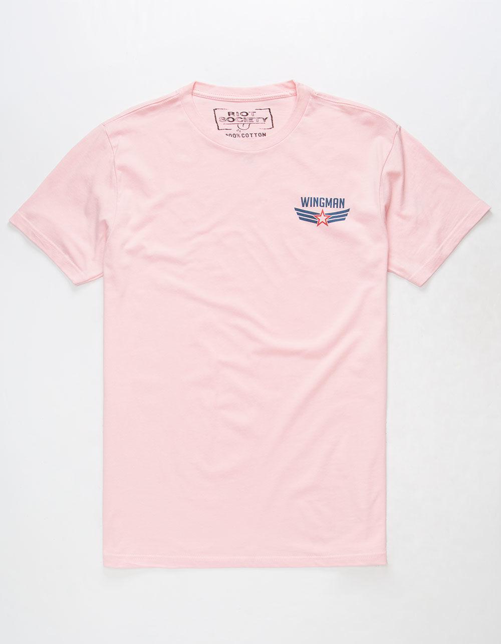 c3007f33b8 Riot Society Wingman Mens T-shirt in Pink for Men - Lyst