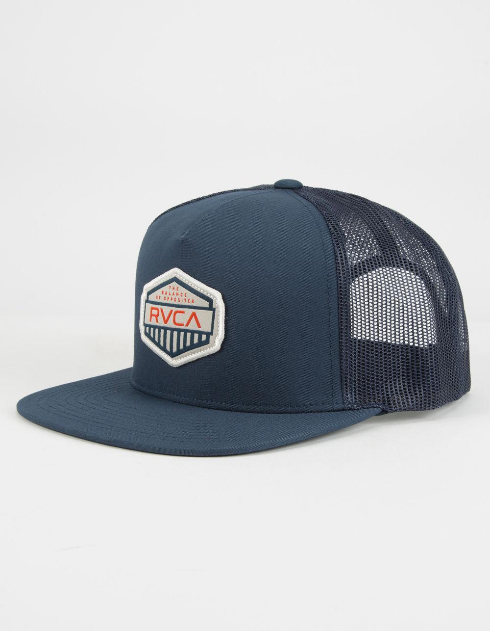 944c3d8af8e4a ... order lyst rvca cargo mens trucker hat in blue for men 94bc2 711cd
