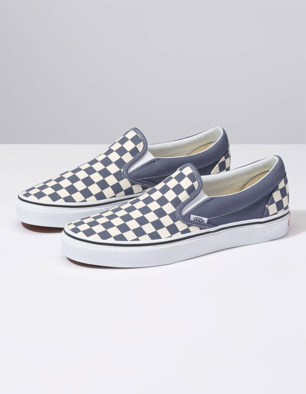 a3698c369e8 Lyst - Vans Checkerboard Grisaille   True White Classic Slip-on Shoes in  White for Men