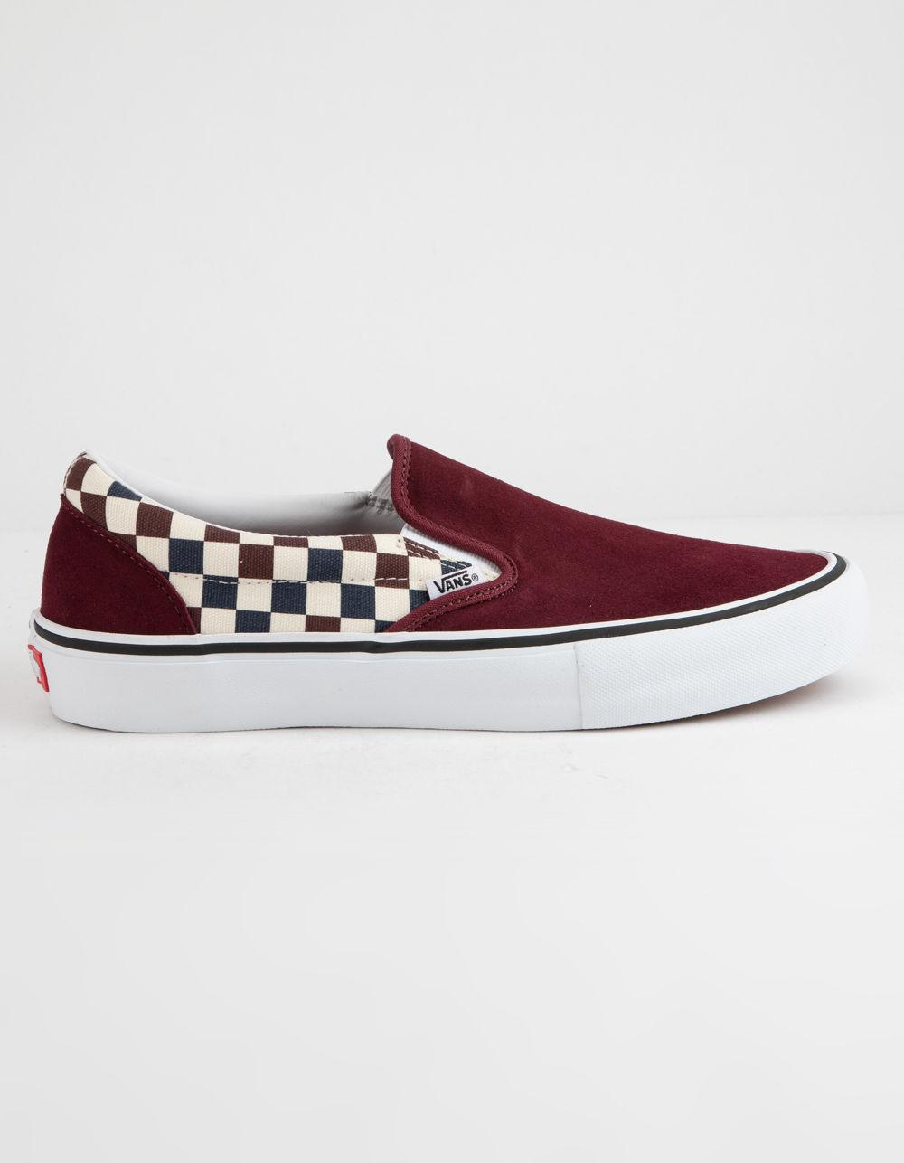 6528173595c2 Vans - Red Checkerboard Slip-on Pro Port Royal Royal Shoes - Lyst. View  fullscreen