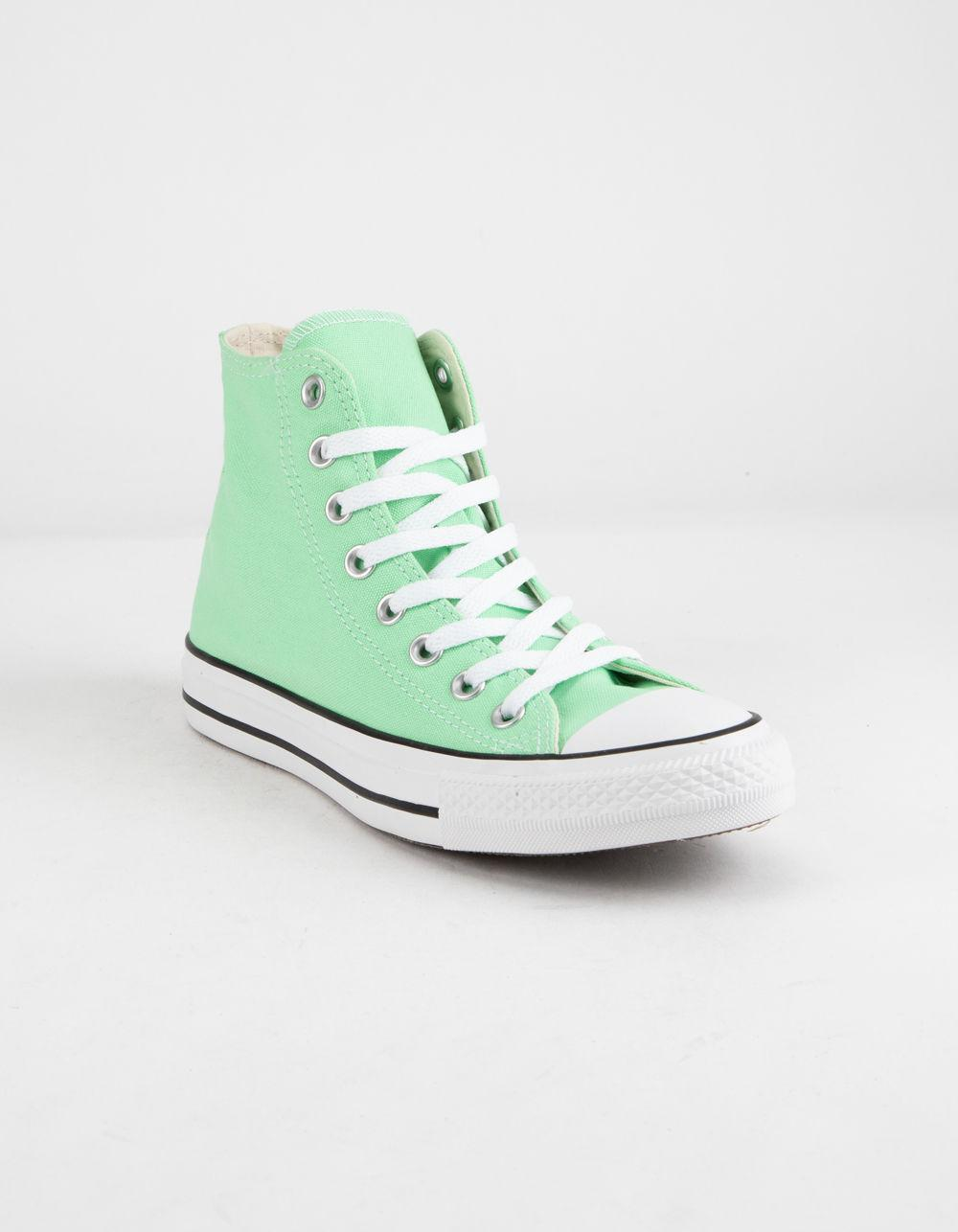 e03f232042570c Lyst - Converse Chuck Taylor All Star Light Aphid Green High Top Womens  Shoes in Green