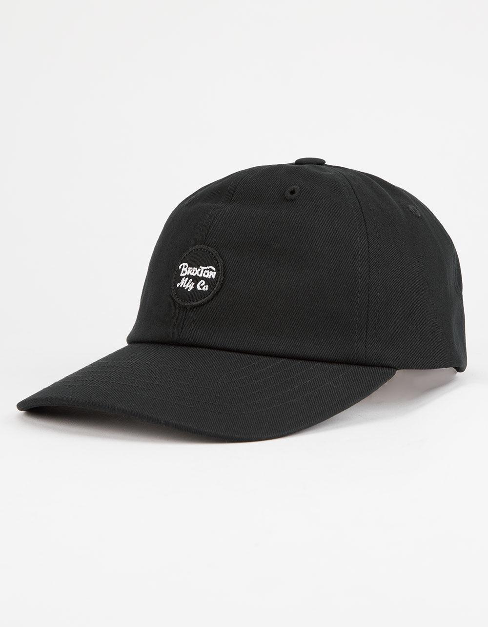 931c30f40cb Lyst - Brixton Wheeler Black Mens Strapback Hat in Black for Men